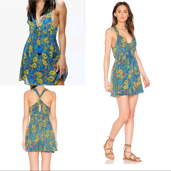 Free People Dresses & Skirts - Free People Washed Ashore Floral Mini Dress